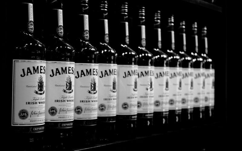 Jameson Whiskey Alcohol BW Bottles wallpaper