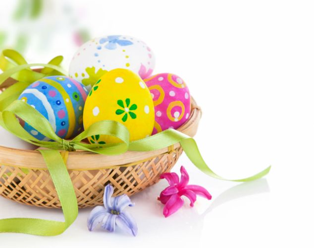 Holidays Easter Eggs Ribbon d wallpaper