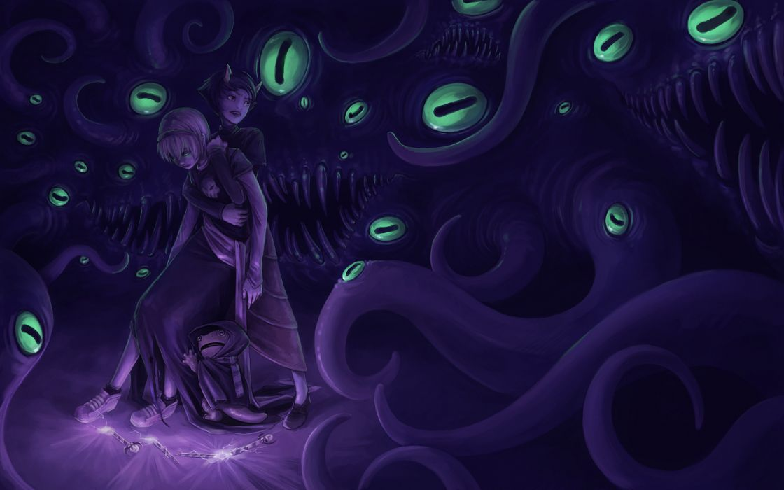 Homestuck Purple Eyes Creepy dark wallpaper