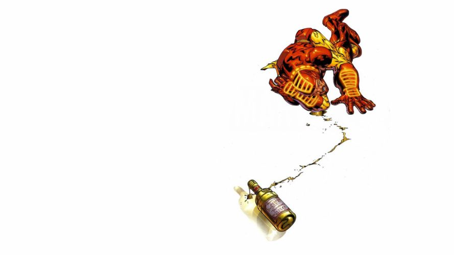 Iron Man White Booze Alcohol Drunk wallpaper