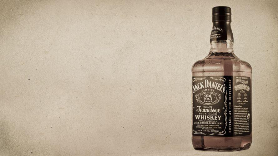 Jack Daniel's Whiskey Alcohol Bottle d wallpaper