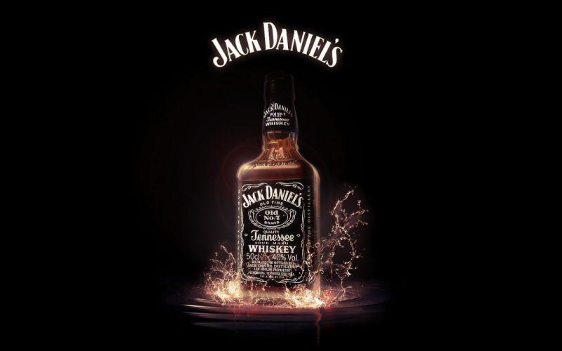 Jack Daniel's Whiskey Alcohol Bottle Black g wallpaper