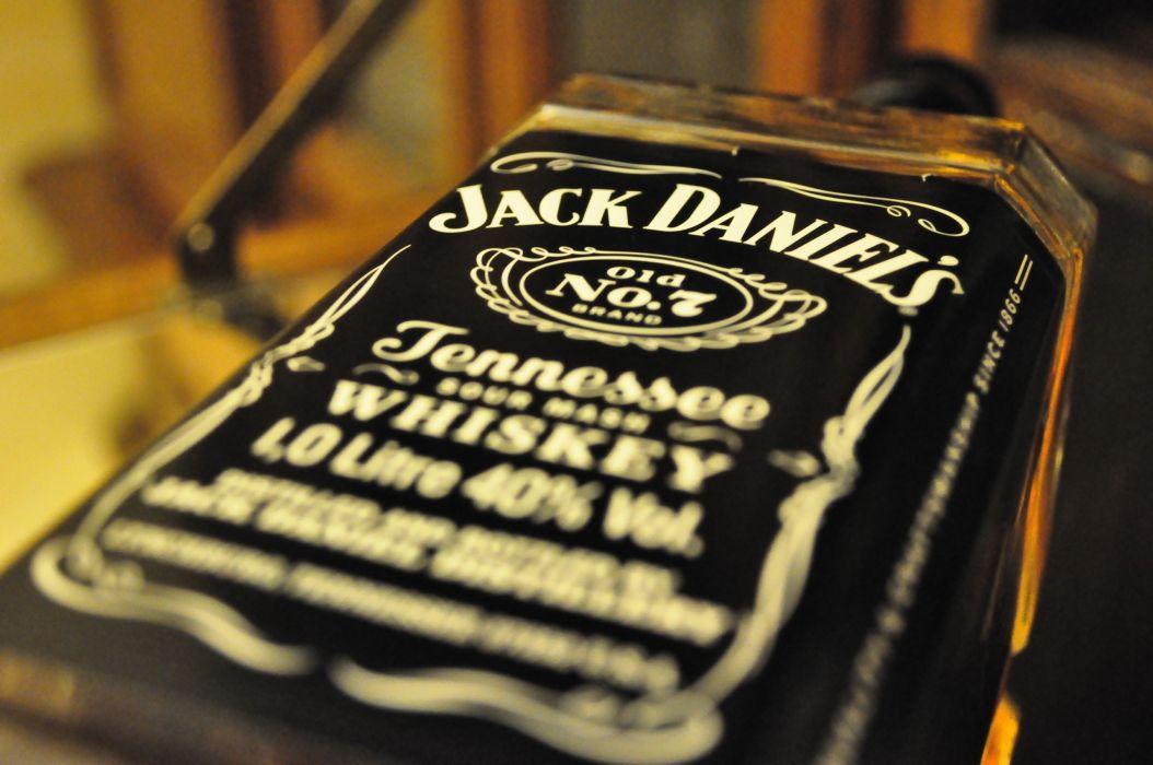 Jack Daniel's Whiskey Alcohol Bottle Macro wallpaper