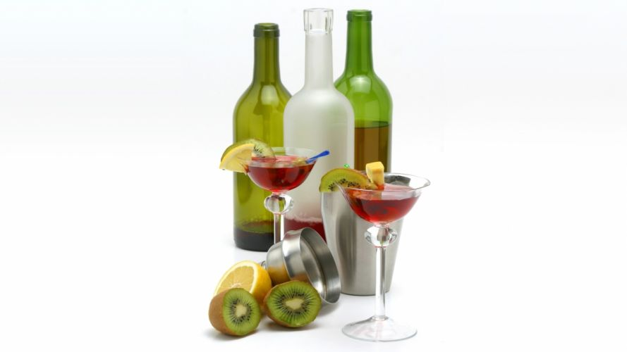 Martini Bottles Kiwi White Alcohol wallpaper