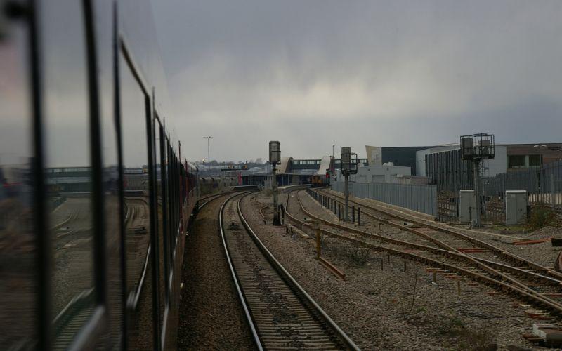 landscapes architecture trains train stations railroad tracks vehicles transports wallpaper