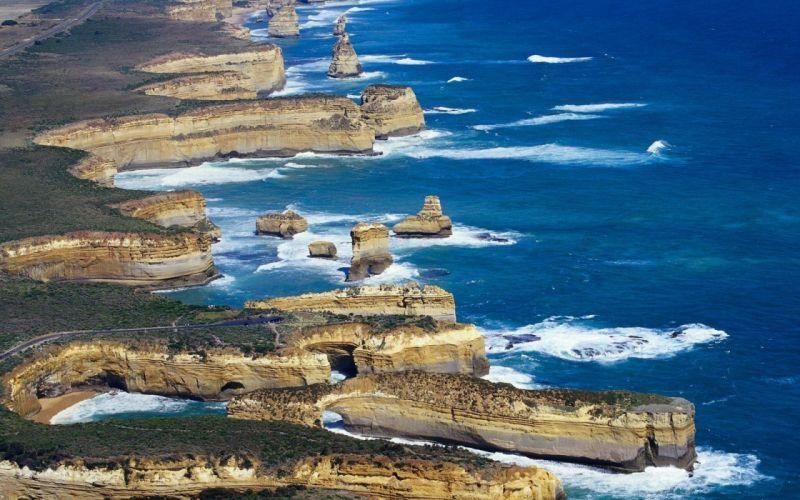 nature beach landscapes Australia coast ocean sea wallpaper