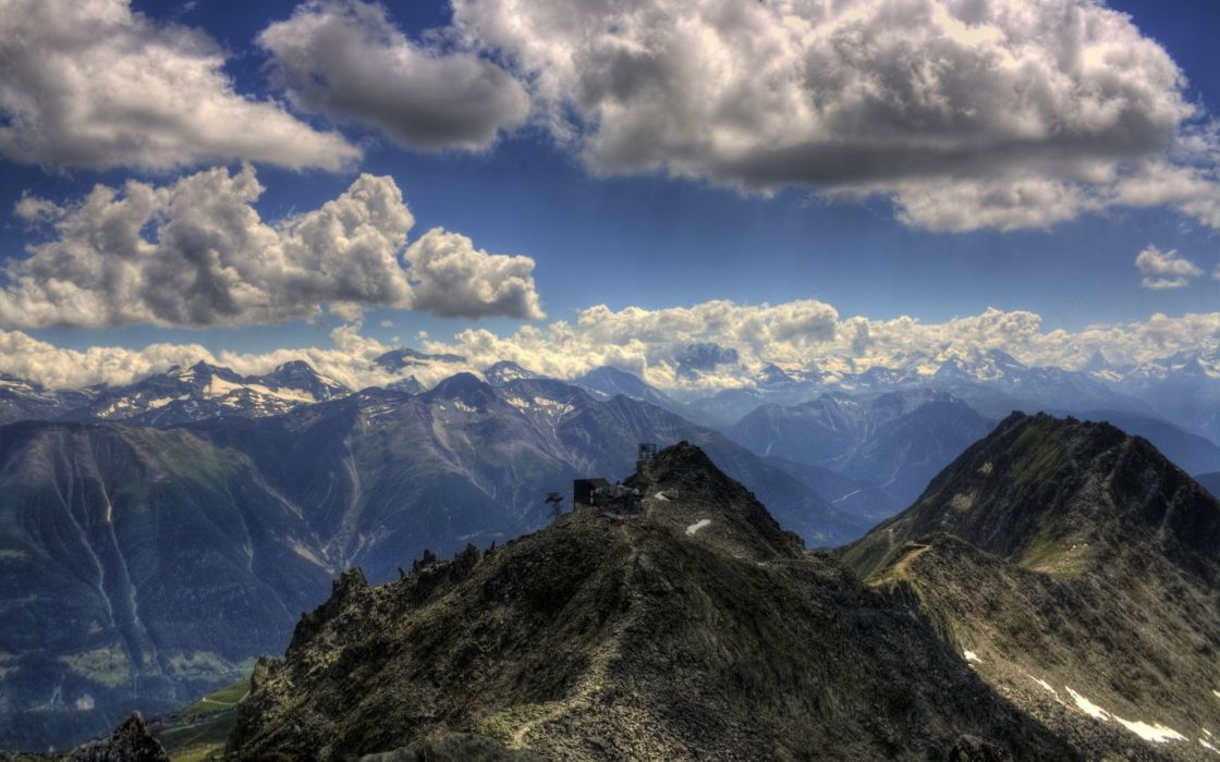nature landscapes clouds mountains sky wallpaper