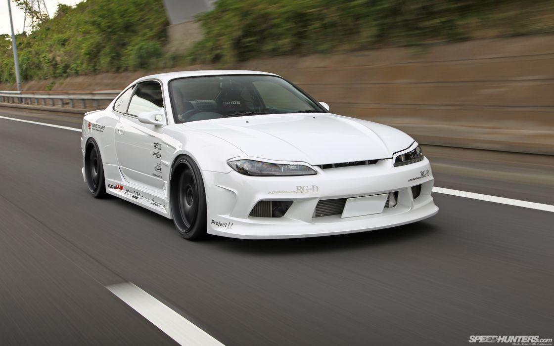 Nissan Silvia Motion Blur tuning   g wallpaper
