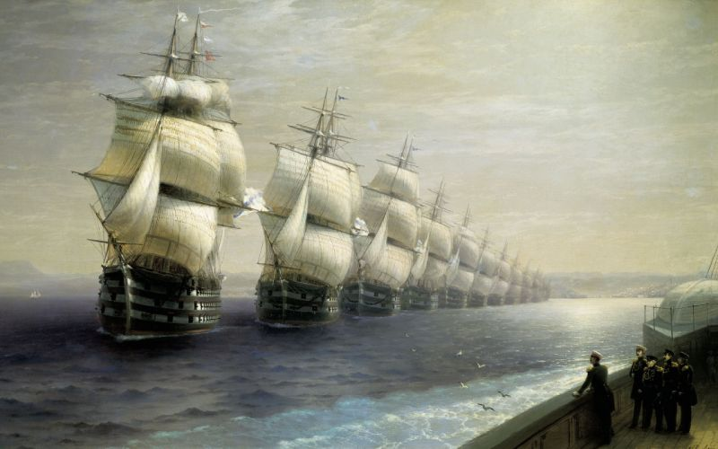 Schooners Ocean Ship Sail Ship Painting fantasy military wallpaper