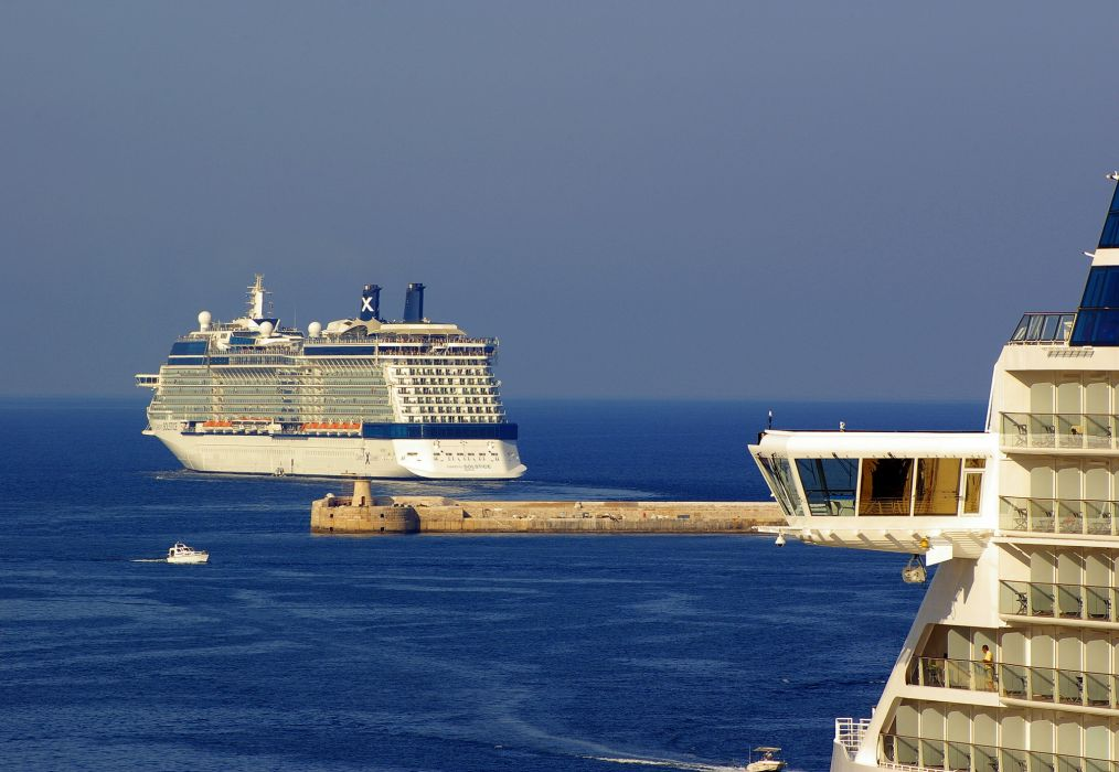 Ships Cruise liner Celebrity Solstice ocean sea boats wallpaper