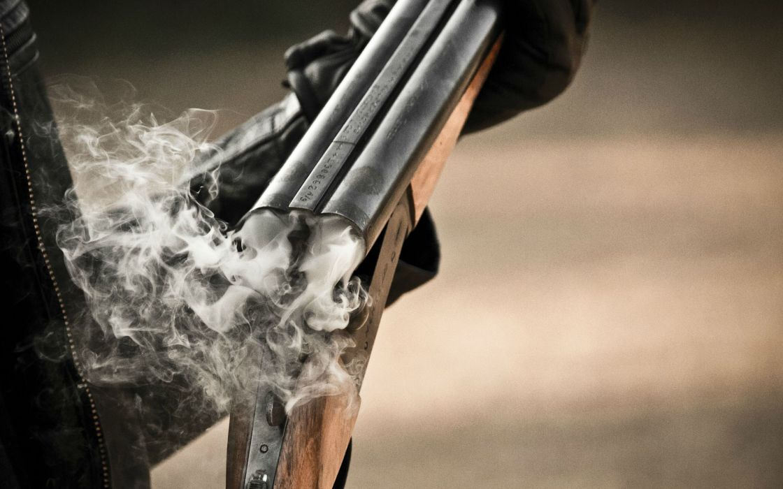 Shotgun Smoke weapons guns wallpaper