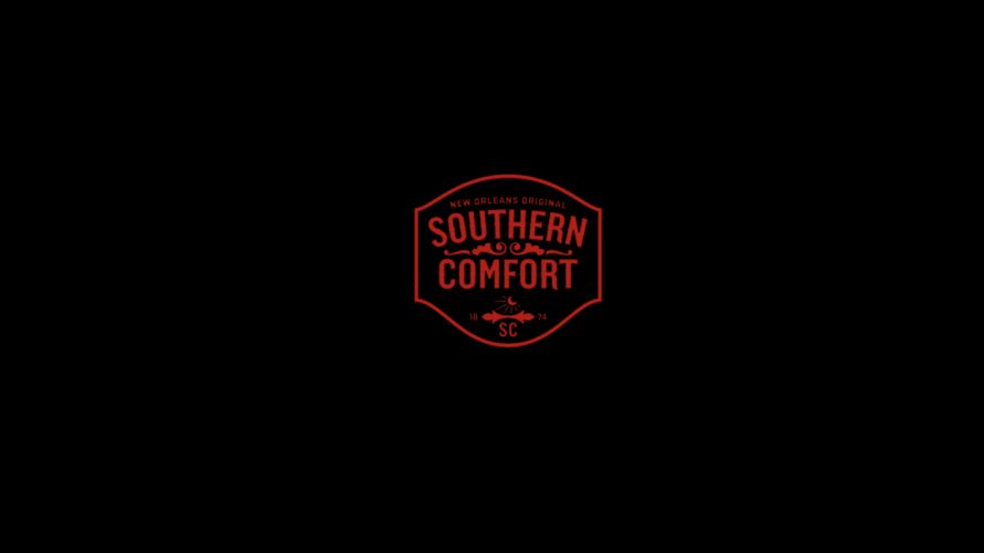 Southern Comfort Alcohol Minimal Black Rum wallpaper