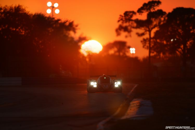 Race Car Sunset Lights racing wallpaper