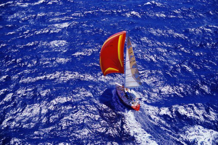 Yacht Sailing Sea boats ocean sea wallpaper