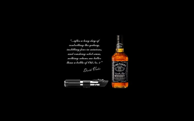 Star Wars Black Alcohol Darth Vader Whiskey wallpaper