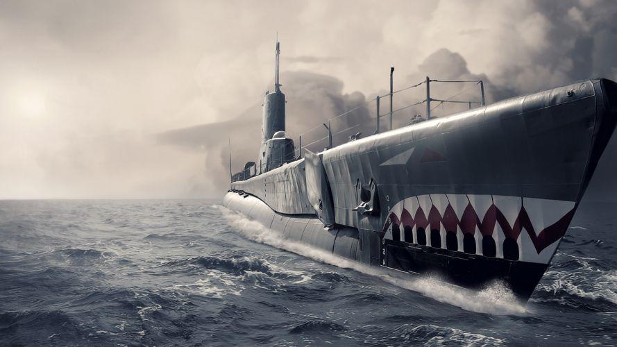 Submarine Ocean wallpaper