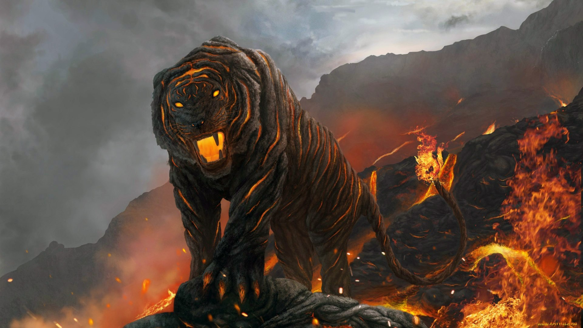 Tiger Fire wallpaper   1920x1080   64793   WallpaperUP