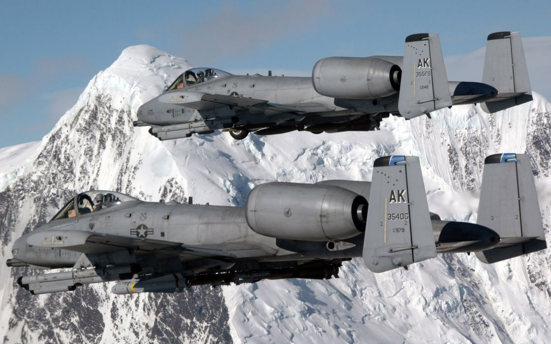 aircraft war A-10 Thunderbolt II wallpaper