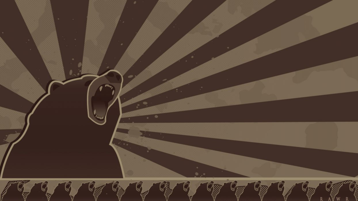 vector bears wallpaper
