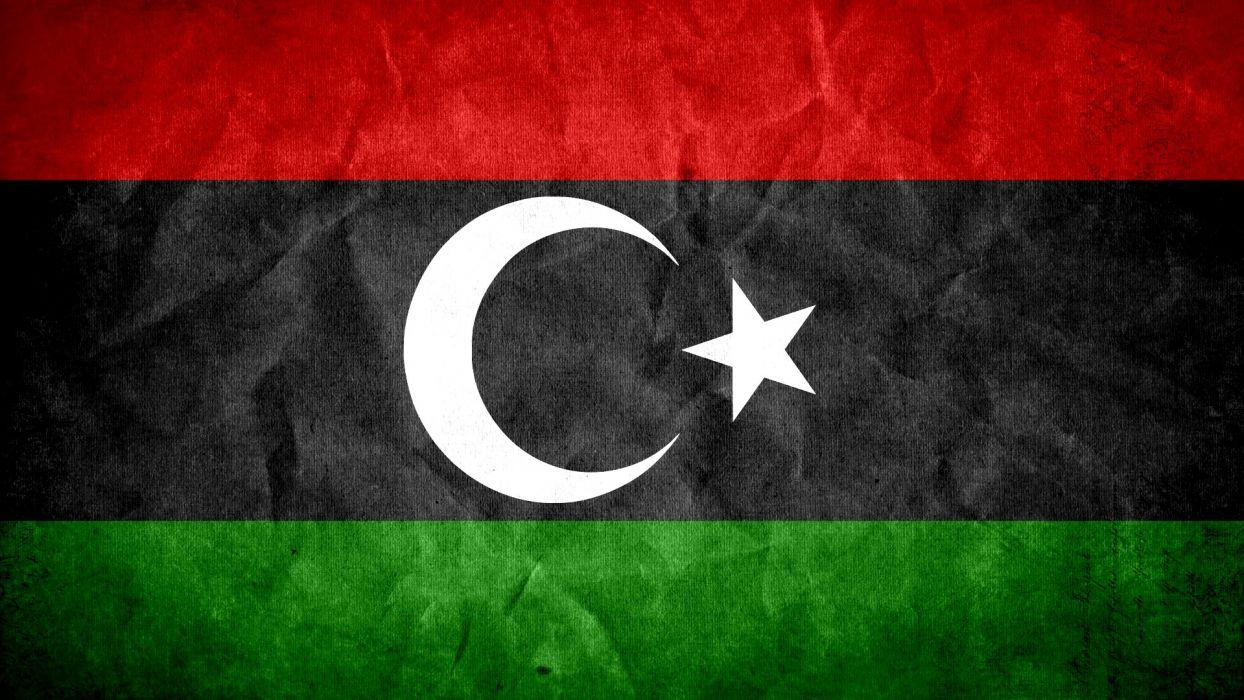 grunge flags national Libya wallpaper