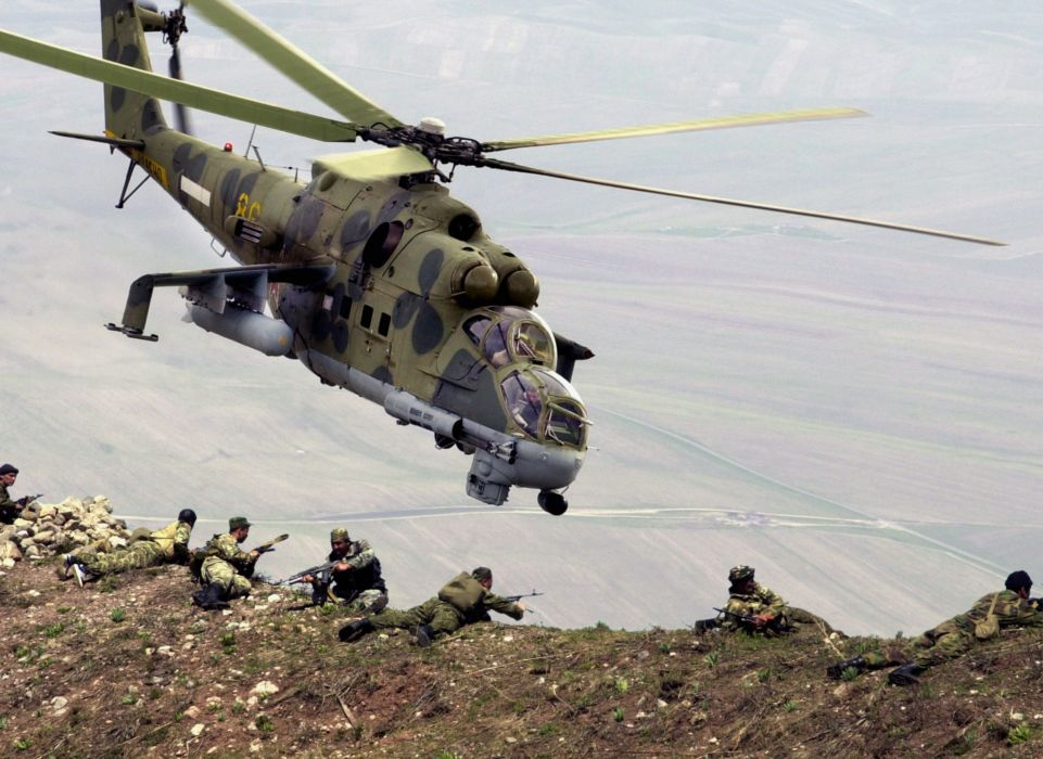 helicopters Soviet Afghanistan mil vehicles Mi-24 Mi-24 Hind wallpaper