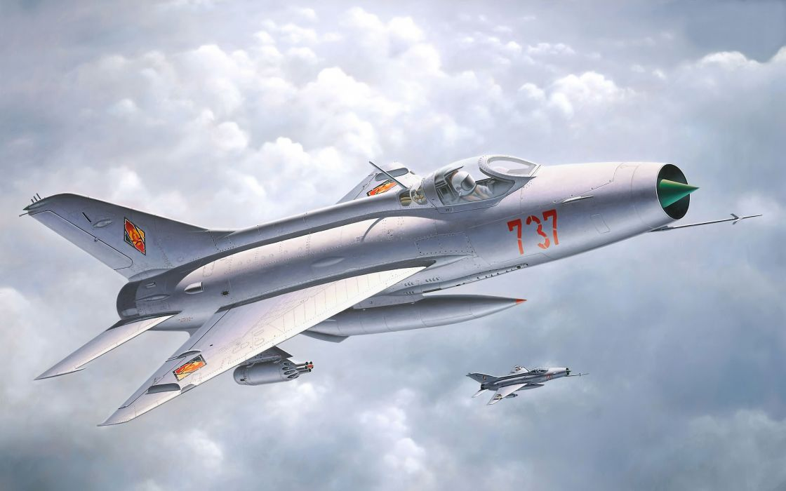 aircraft military artwork MIG-21 Fishbed airforce German Democratic Republic wallpaper