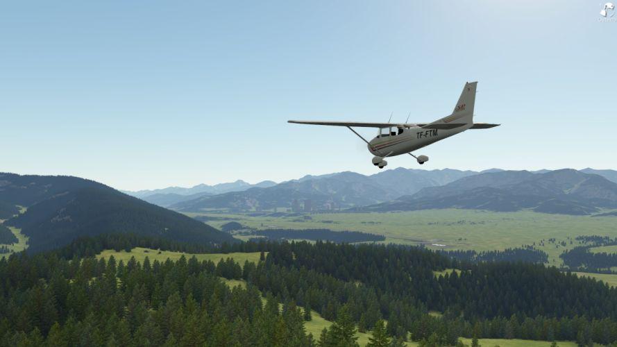 video games aircraft Outerra Cessna aviation terrain wallpaper