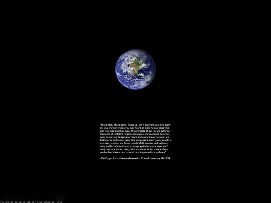quotes Earth Carl Sagan wallpaper