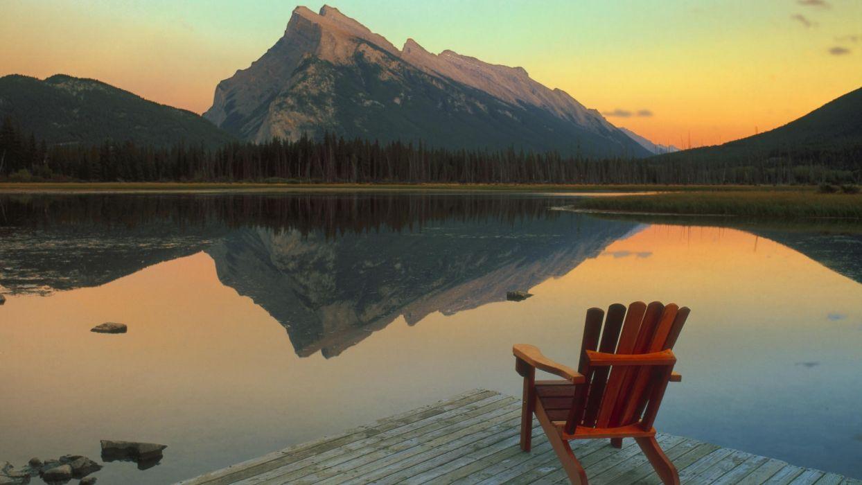 landscapes Canada escape lakes Banff National Park National Park Mount wallpaper