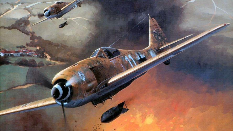 airplanes Focke Wulf widescreen wallpaper