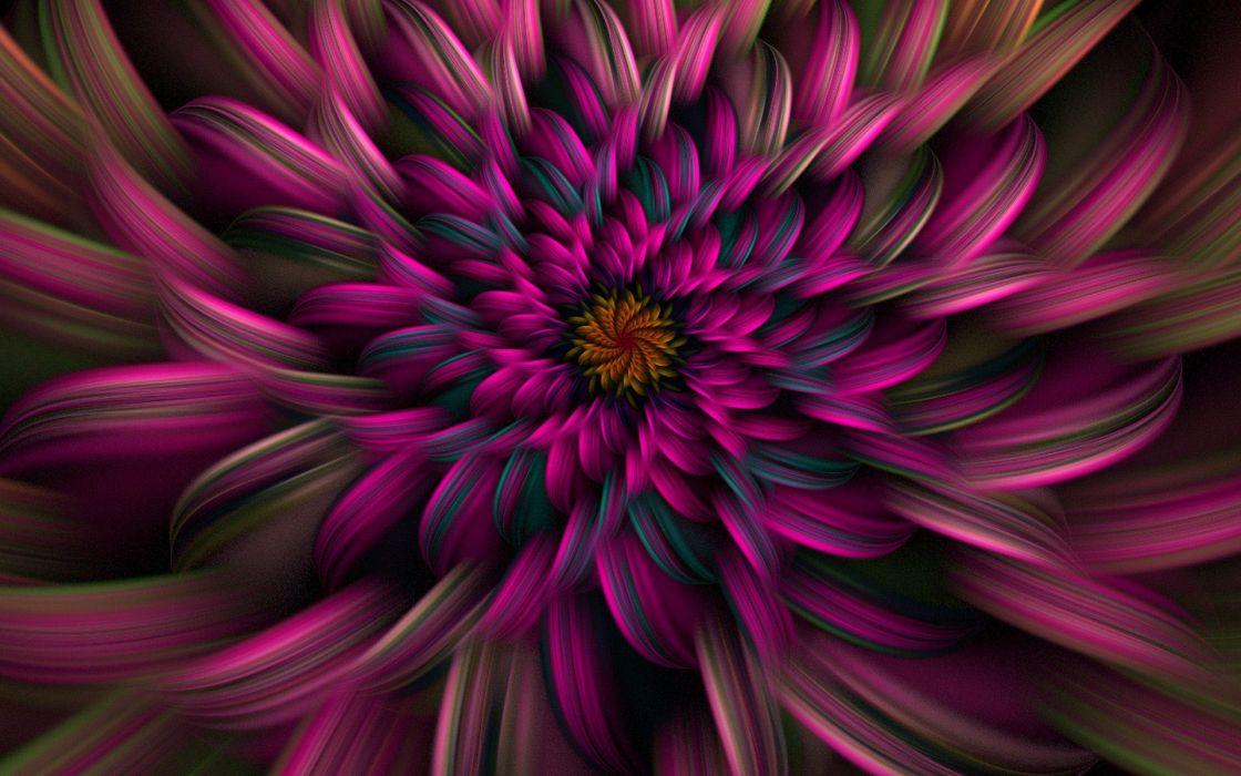 Abstract Flowers Fractals Wallpaper 1920x1200 65538 Wallpaperup