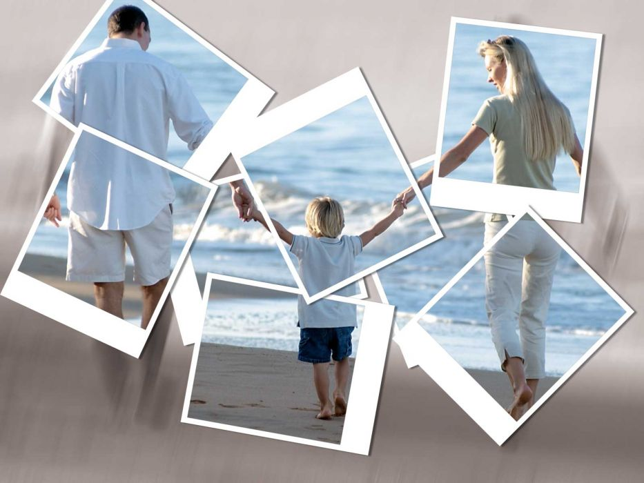 blondes women beach family wallpaper