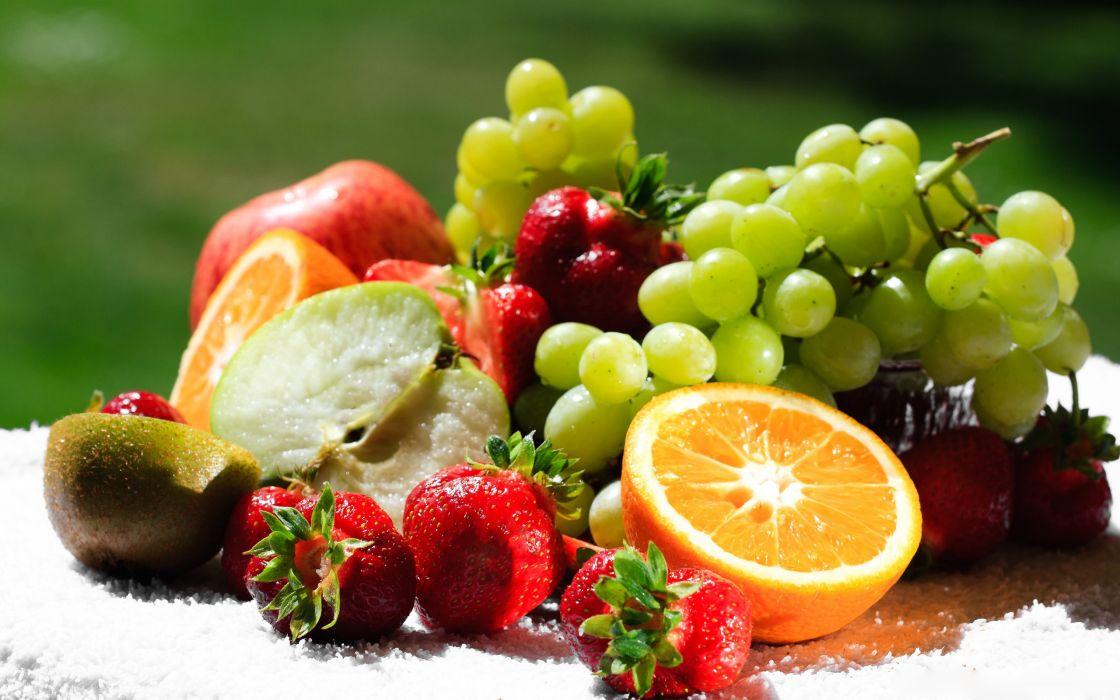 Mixed Fresh Fruit wallpaper