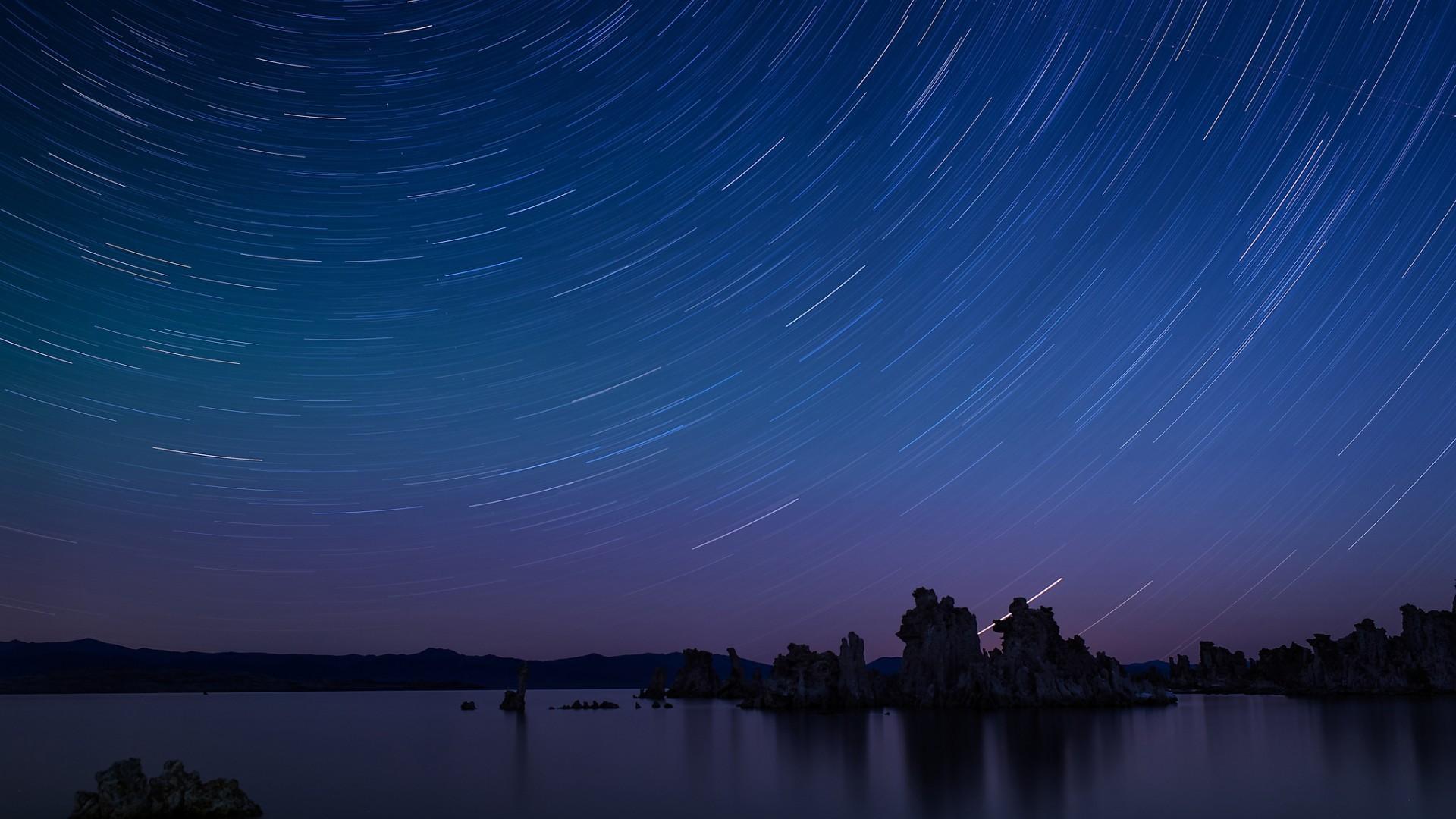 stars timelapse night ocean wallpaper 1920x1080 65631
