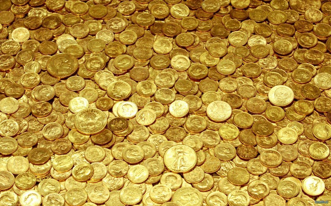 coins gold yellow money wallpaper