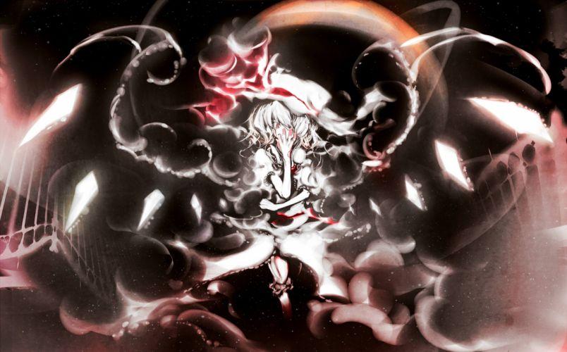 flandre scarlet moon touhou vampire yoshioka yoshiko wallpaper