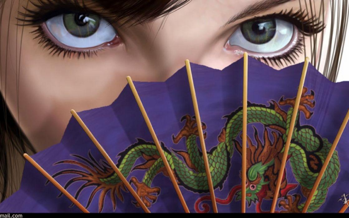 Woman Eyes wallpaper