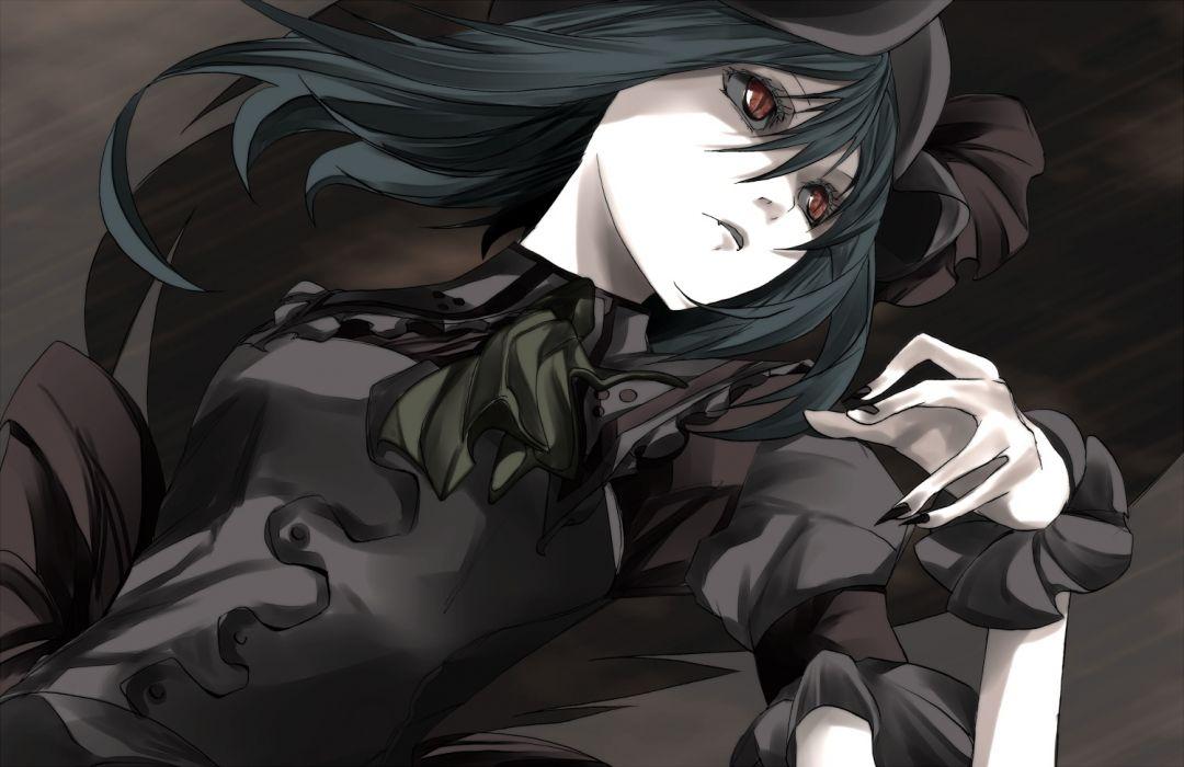 black hair fang red eyes remilia scarlet tagme touhou wallpaper