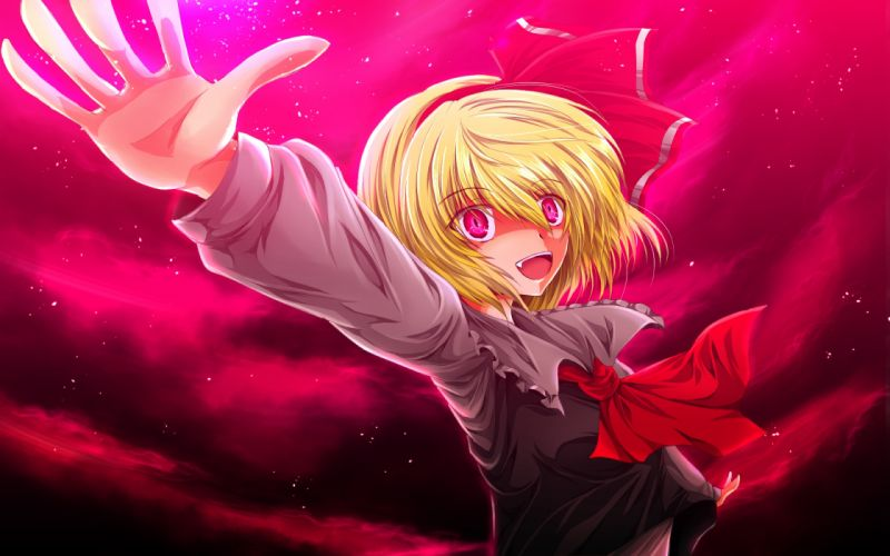blonde hair nekominase red eyes rumia touhou wallpaper