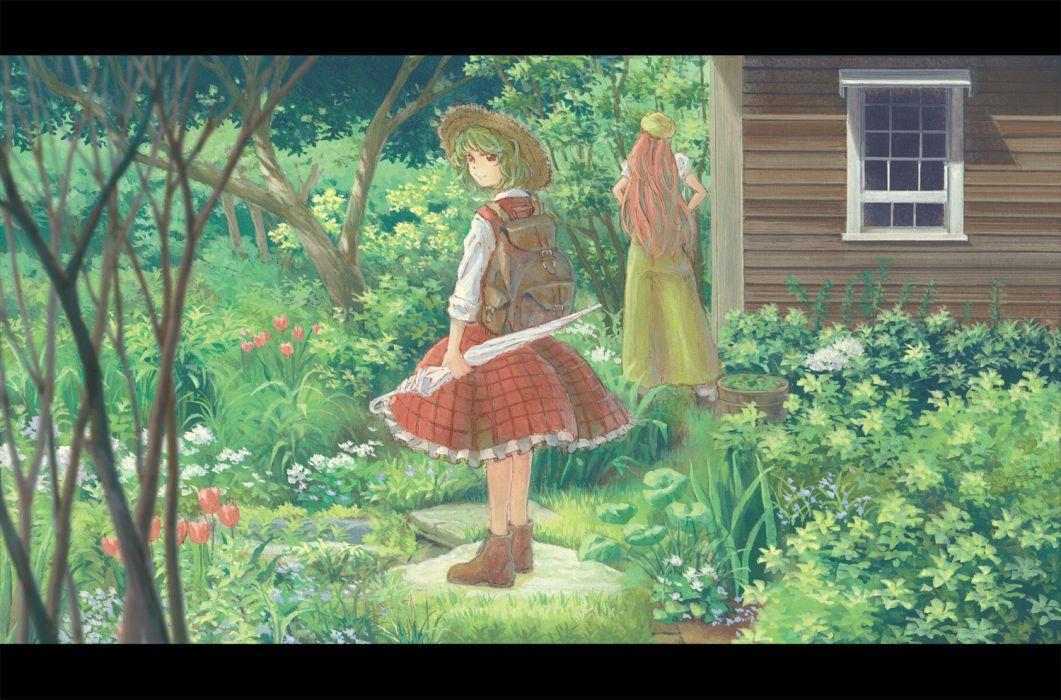 hong meiling kazami yuuka touhou wallpaper