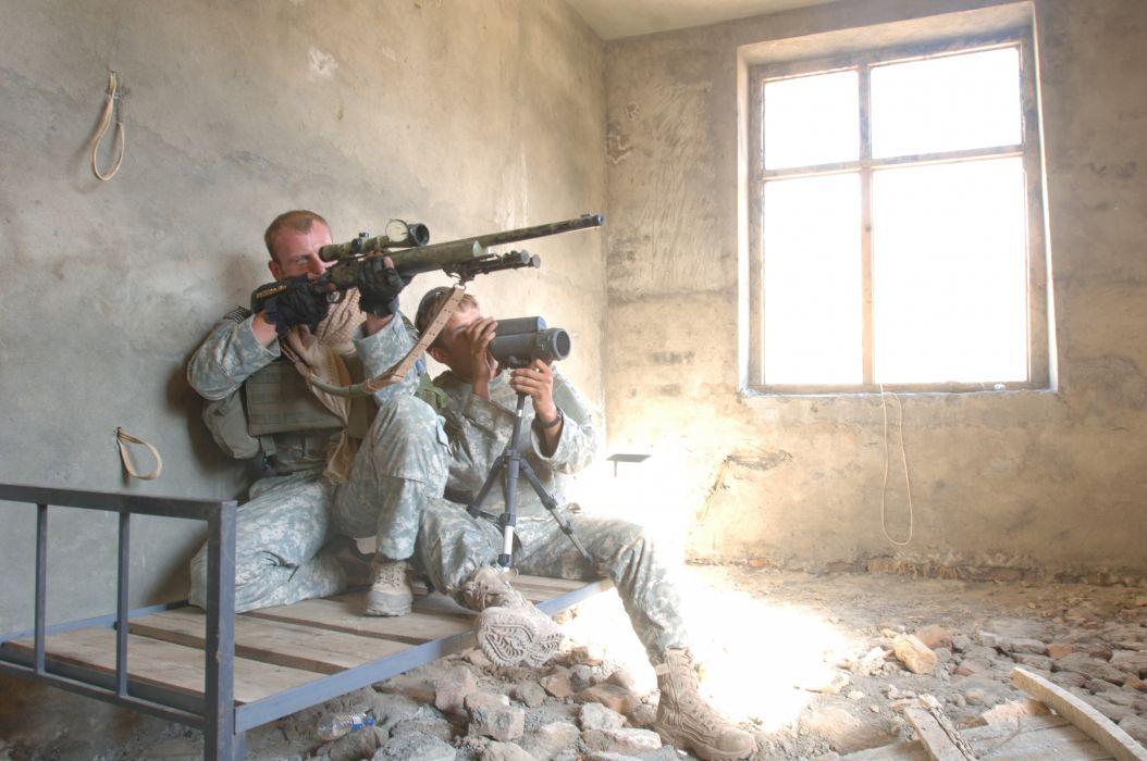 war military men snipers shooter M24SWS wallpaper