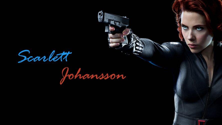 Scarlett Johansson redheads Black Widow Natasha Romanoff The Avengers (movie) wallpaper