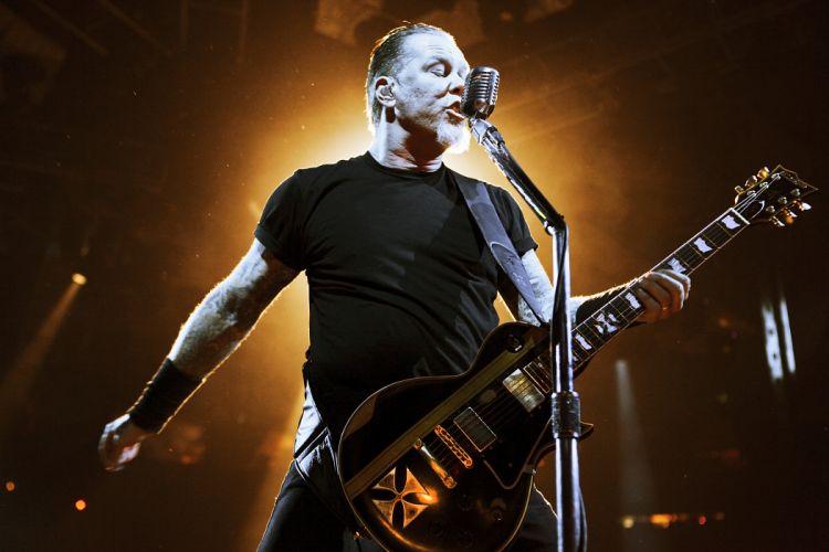 Metallica guitars James Hetfield concert wallpaper