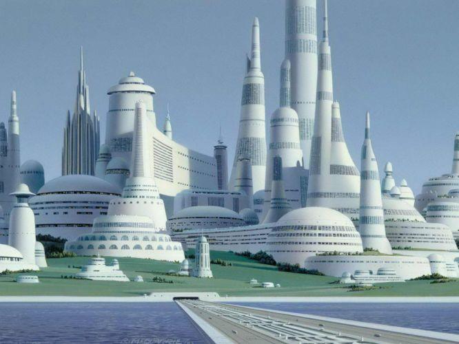 Star Wars cityscapes movies futuristic concept art science fiction artwork Ralph McQuarrie wallpaper