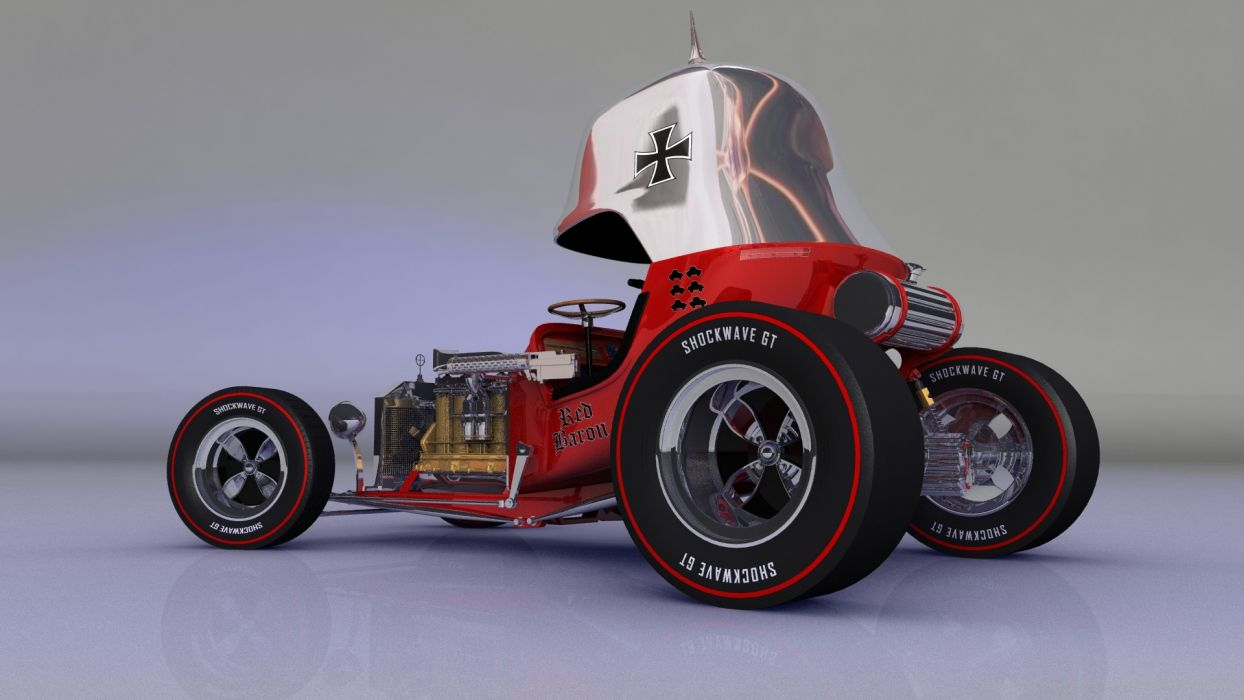 Hot Rod Red Baron wallpaper
