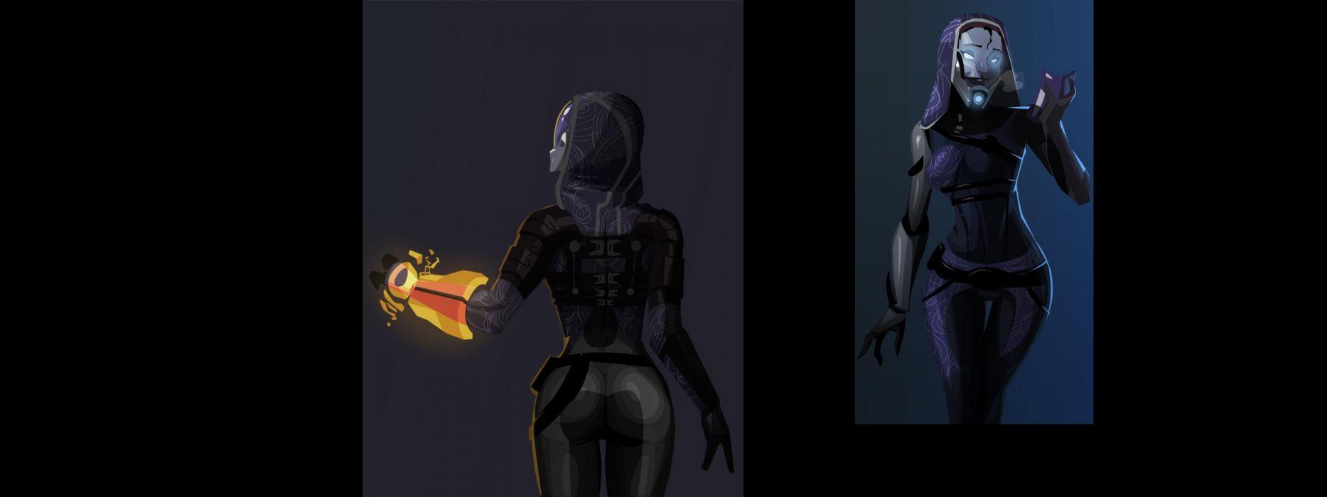 Mass Effect Tali Zorah nar Rayya wallpaper