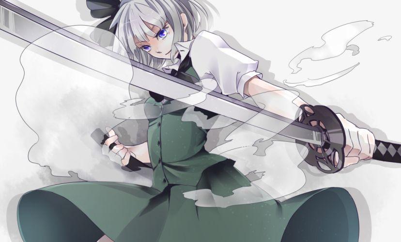 konpaku youmu sword tagme touhou weapon wallpaper