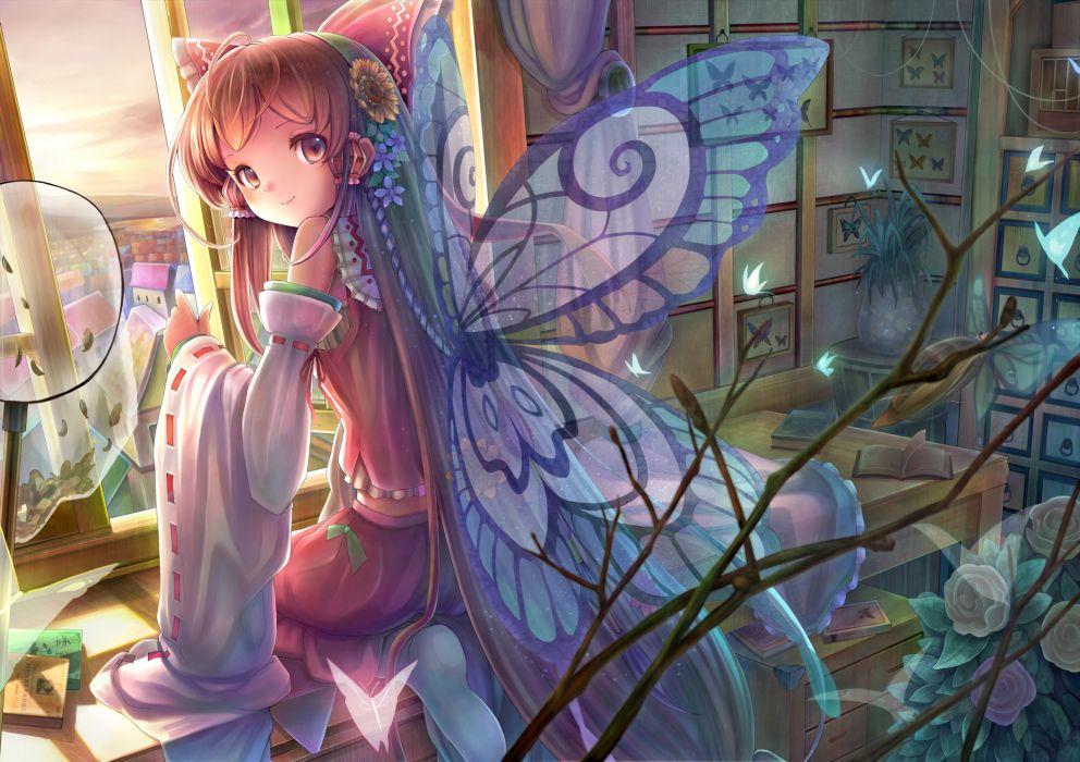 hakurei reimu sanntouhei tagme touhou wings wallpaper