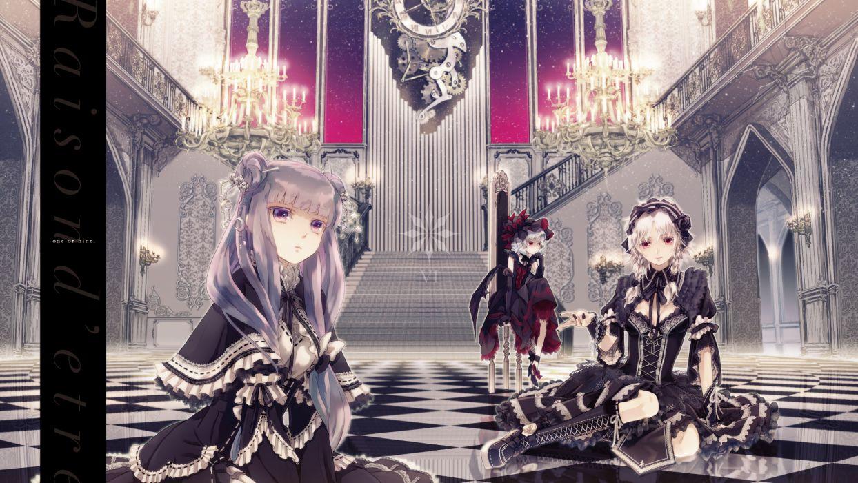 girls goth-loli izayoi sakuya lolita fashion miyuki ruria patchouli knowledge remilia scarlet touhou vampire wallpaper