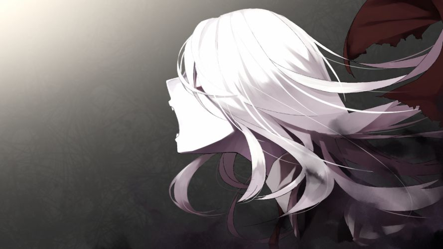 rumia shiro negi touhou white hair wallpaper